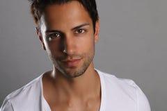 Handsome brown man model posing Stock Images