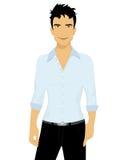 Handsome brunet. A  illustration of a handsome brunet Stock Image