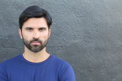 Handsome brunette bearded male  Royalty Free Stock Photo