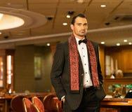 Handsome brunette in luxury interior Stock Photo