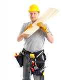Handsome builder Stock Image