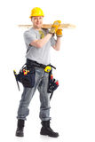 Handsome builder Stock Images