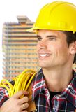 Handsome builder Royalty Free Stock Image
