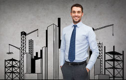 Handsome buisnessman Royalty Free Stock Images