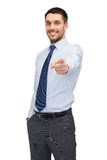 Handsome buisnessman pointing finger at you Royalty Free Stock Photos