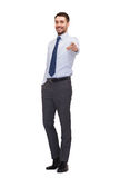 Handsome buisnessman pointing finger at you Stock Images
