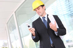 Handsome Business Construction Man Stock Images