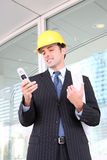 Handsome Business Construction Man Royalty Free Stock Images