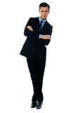 Handsome business executive tilting Stock Photography