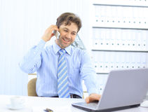 Handsome business guy working Royalty Free Stock Images