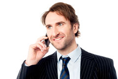 Handsome business male communicating Royalty Free Stock Photo
