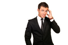 Handsome business man. Portrait of a young handsome business man stock images