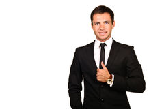 Handsome business man. Portrait of a young handsome business man stock photo