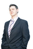Handsome business man. Handsome man in business suit isolated on white Royalty Free Stock Image