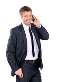 Handsome business man calling Royalty Free Stock Photography