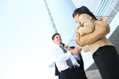 Handsome Business Man Handshake Stock Images