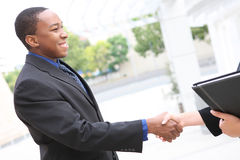 Handsome Business Man Handshake Royalty Free Stock Photography