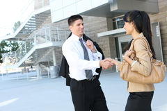 Handsome Business Man Handshake Royalty Free Stock Photo