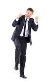 Handsome business man happy expression Royalty Free Stock Photos