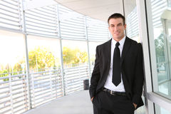Handsome Business Man at Office Stock Photography