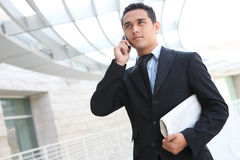 Handsome Business Man at Office Stock Photos