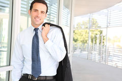 Handsome Business Man at Office Stock Photo