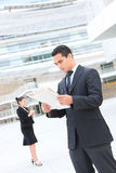 Handsome Business Man at Office Building Stock Photo