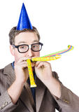 Handsome business man. Party for many year service Royalty Free Stock Photography