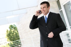 Handsome Business Man on Phone Stock Images