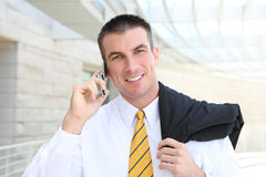 Handsome Business Man on Phone Royalty Free Stock Photos