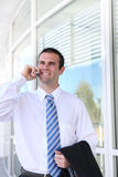 Handsome Business Man on Phone Stock Image