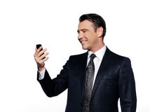 Handsome business man phoning Royalty Free Stock Images