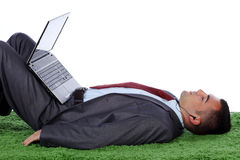 Handsome business man relaxed Stock Photography