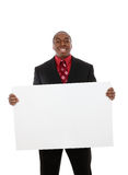 Handsome Business Man with Sign Stock Images