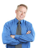 Handsome business man smiling  on white background. Handsome business man smiling Royalty Free Stock Photos