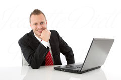 Handsome business man Royalty Free Stock Photo