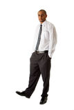 Handsome business man standing Stock Photos