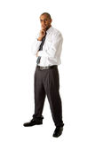 Handsome business man standing Stock Images