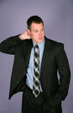 Handsome business man in suit Royalty Free Stock Photo