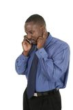 Handsome Business Man Takes a Cell Call Royalty Free Stock Images