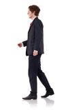 Handsome business man walking Stock Photography