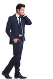 Handsome business man walking Royalty Free Stock Photo