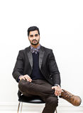 Business man sitting down Royalty Free Stock Photography