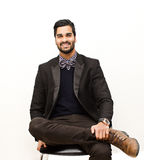 Business man smiling portrait Royalty Free Stock Images