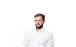 Handsome business man in white shirt Royalty Free Stock Photography