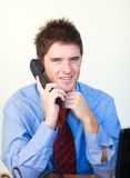 Handsome business person  talking on the phone Stock Images