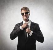 Handsome businessman stock image