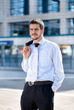 Handsome businessman Royalty Free Stock Photos