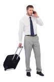 Handsome businessman answering phone Stock Photos