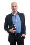 Handsome businessman with book Royalty Free Stock Photos